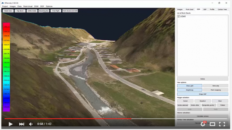 3Dsurvey is even more usable with LiDAR compatibility