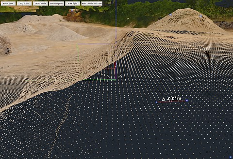 Delta height 3D measurements (source: 3Dsurvey)