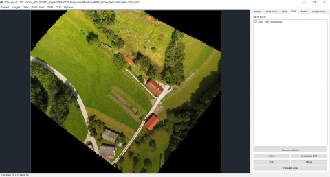 Calculated orthophoto. Serves as the basis for a Cadastral boundary map (source: 3Dsurvey)