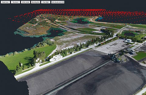 Point cloud camera locations 3D view (source: PV Invest & 3Dsurvey)