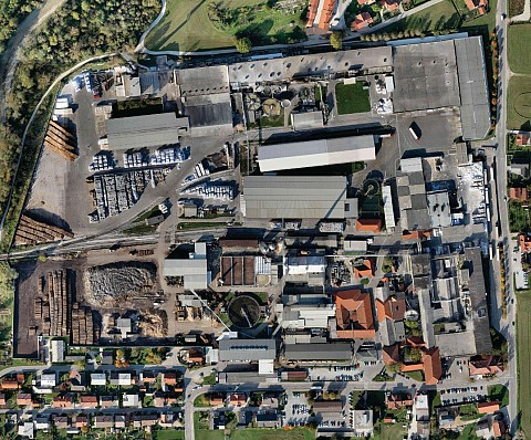 Orthophoto map – Količevo paper mill